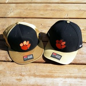 Lot of 2 Clemson Tigers Nike Championship Snapback